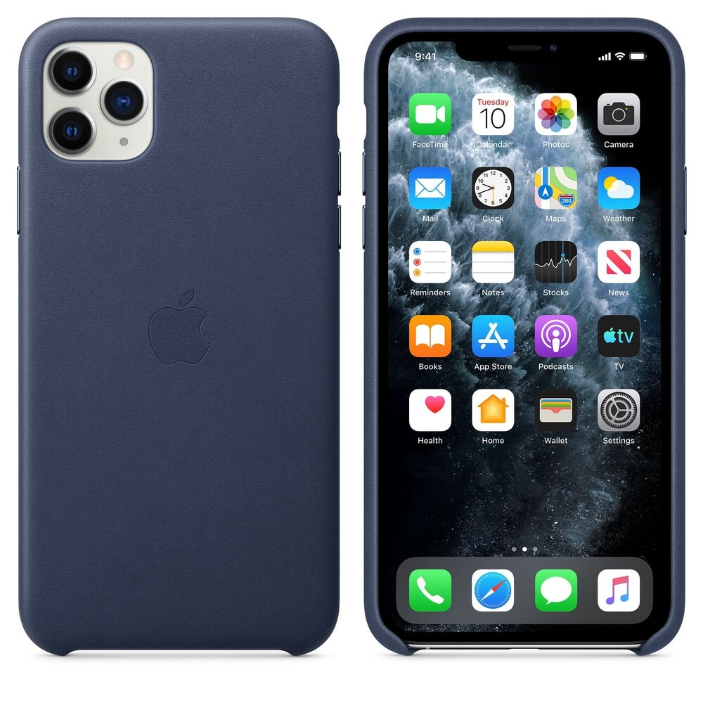 Apple iPhone Leather Case for iPhone 11 Pro Max (midnight blue)