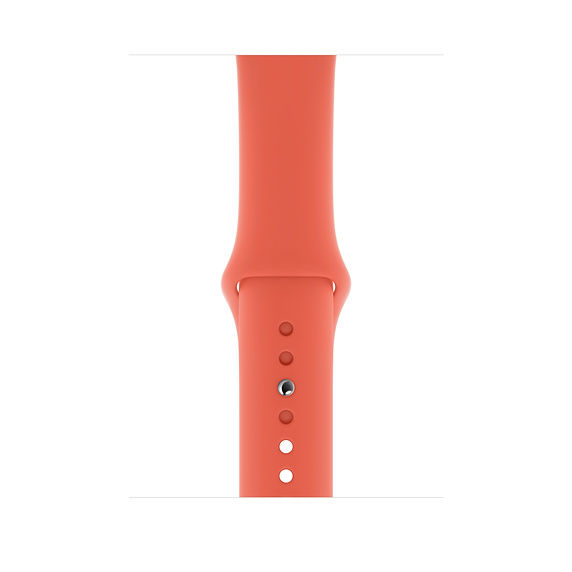 Apple Sport Band S/M & M/L - оригинална силиконова каишка за Apple Watch 42мм, 44мм (светлооранжев) (retail)
