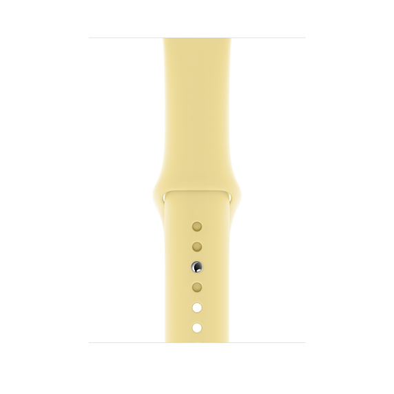 Apple Sport Band S/M & M/L - оригинална силиконова каишка за Apple Watch 42мм, 44мм (светложълт) (retail)