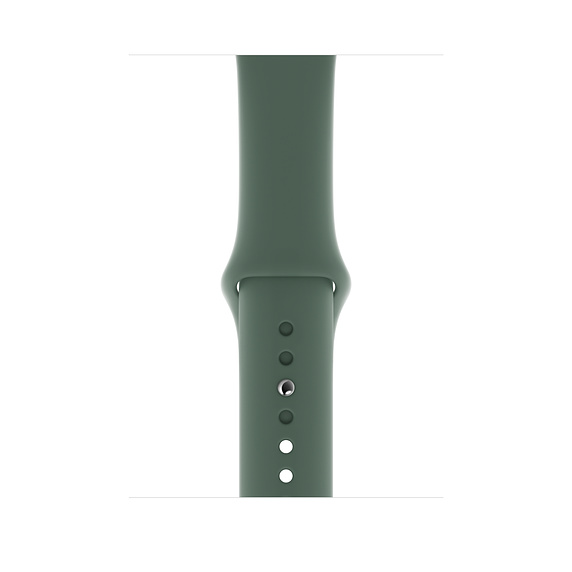 Apple Sport Band S/M & M/L - оригинална силиконова каишка за Apple Watch 42мм, 44мм (тъмнозелен)