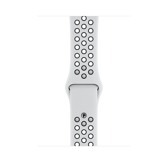Apple Watch Nike Sport Band - оригинална силиконова каишка за Apple Watch 38мм, 40мм (бял-черен)