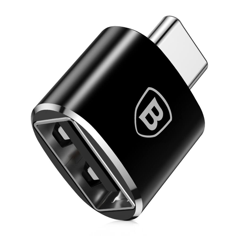 Baseus USB-C Male To USB Female Adapter (black)