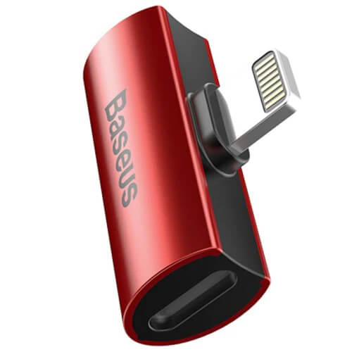 Baseus Double Lightning Adapter L46 (red)