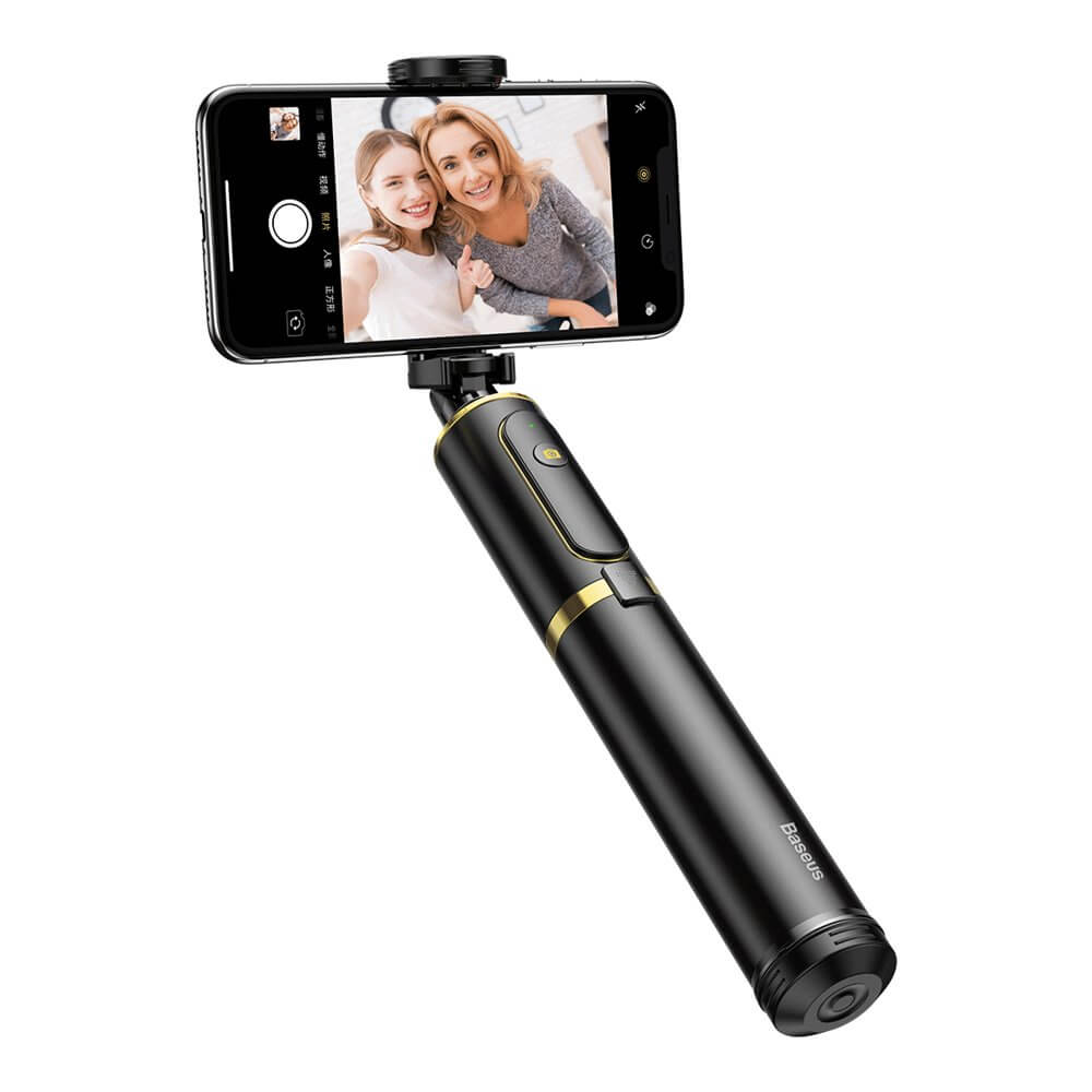 Baseus Fully Folding Bluetooth Tripod Selfie Stick (black-gold)