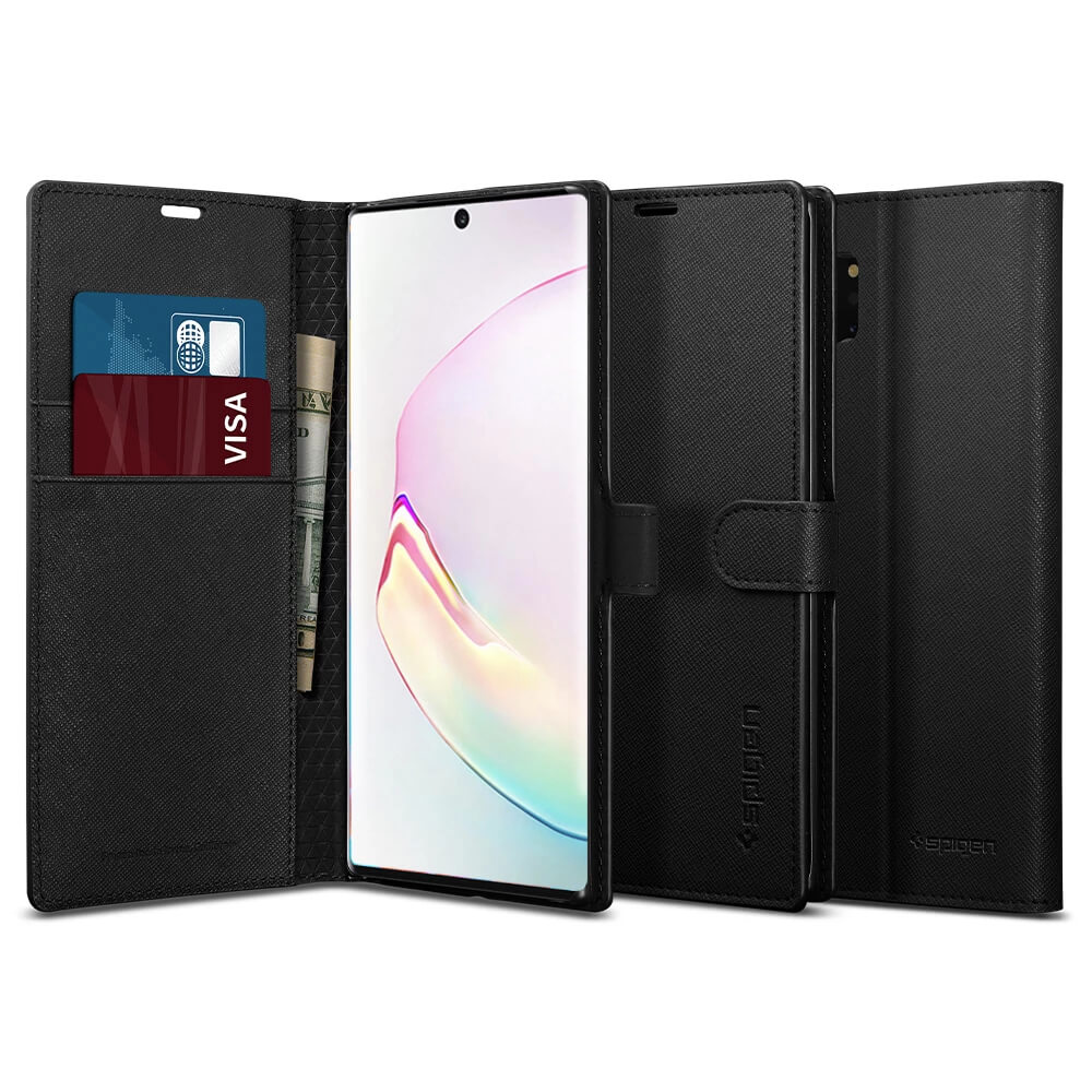 Spigen Wallet S Case for Samsung Galaxy Note 10 Plus (black)