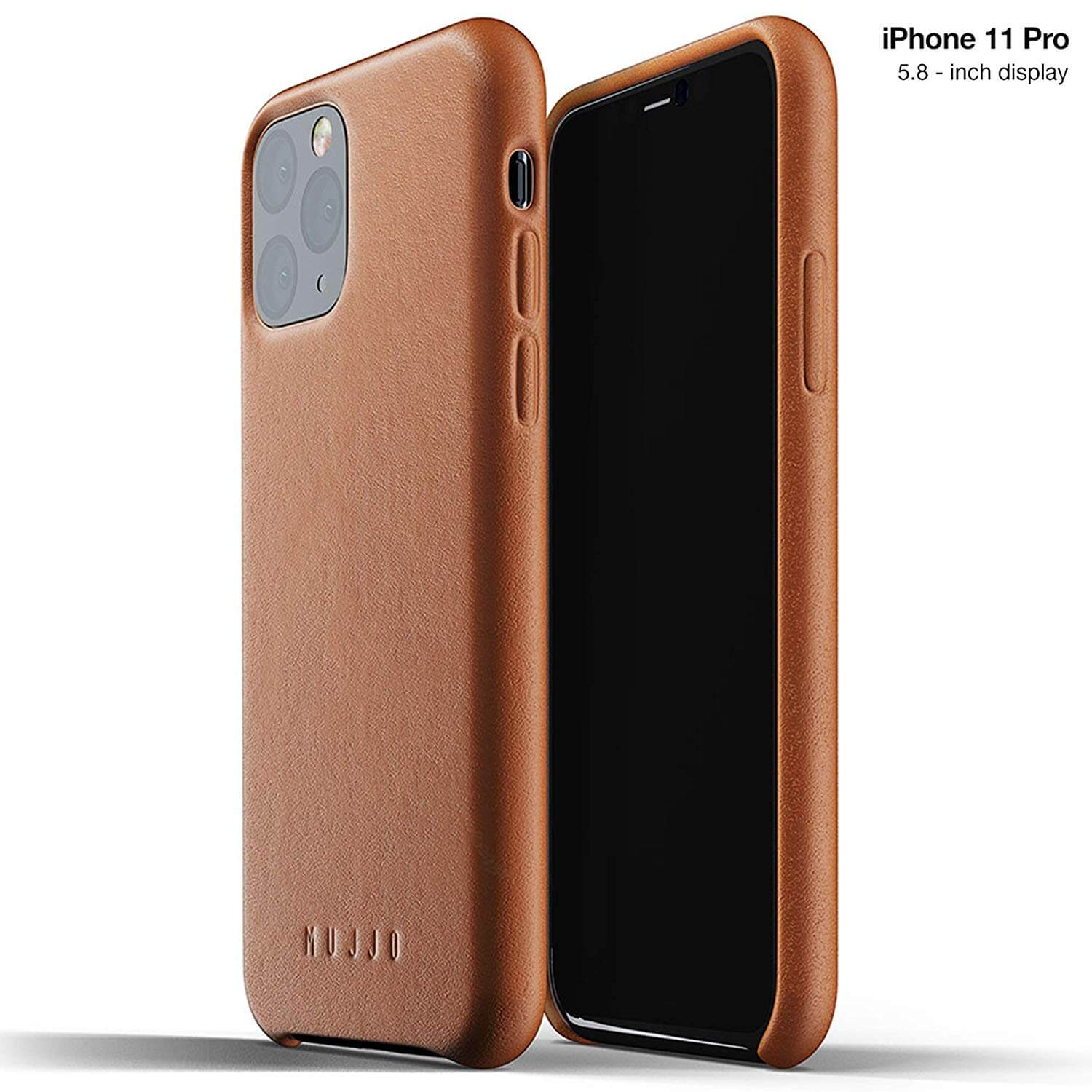 Mujjo Full Leather Case for iPhone 11 Pro (brown)