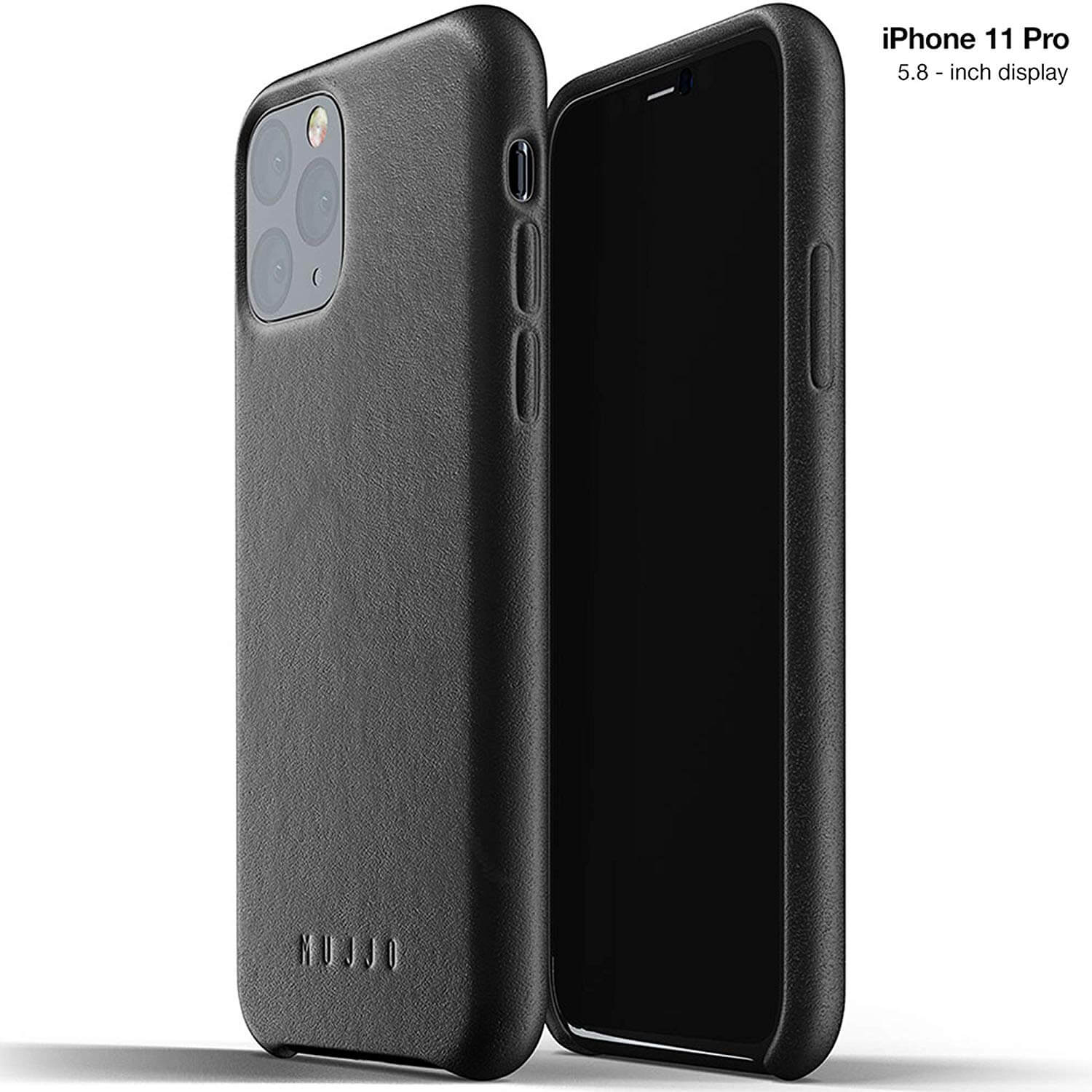 Mujjo Full Leather Case for iPhone 11 Pro (black)