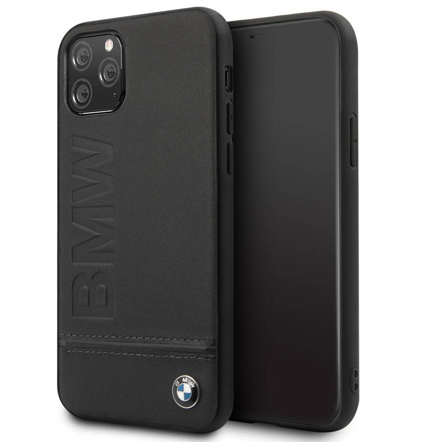BMW Signature Genuine Leather Soft Case for iPhone 11 Pro (black)