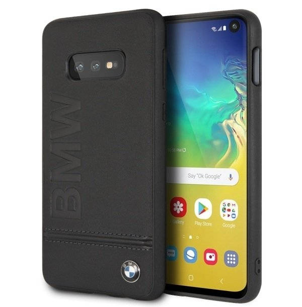 BMW Signature Genuine Leather Soft Case for Samsung Galaxy S10E (black)