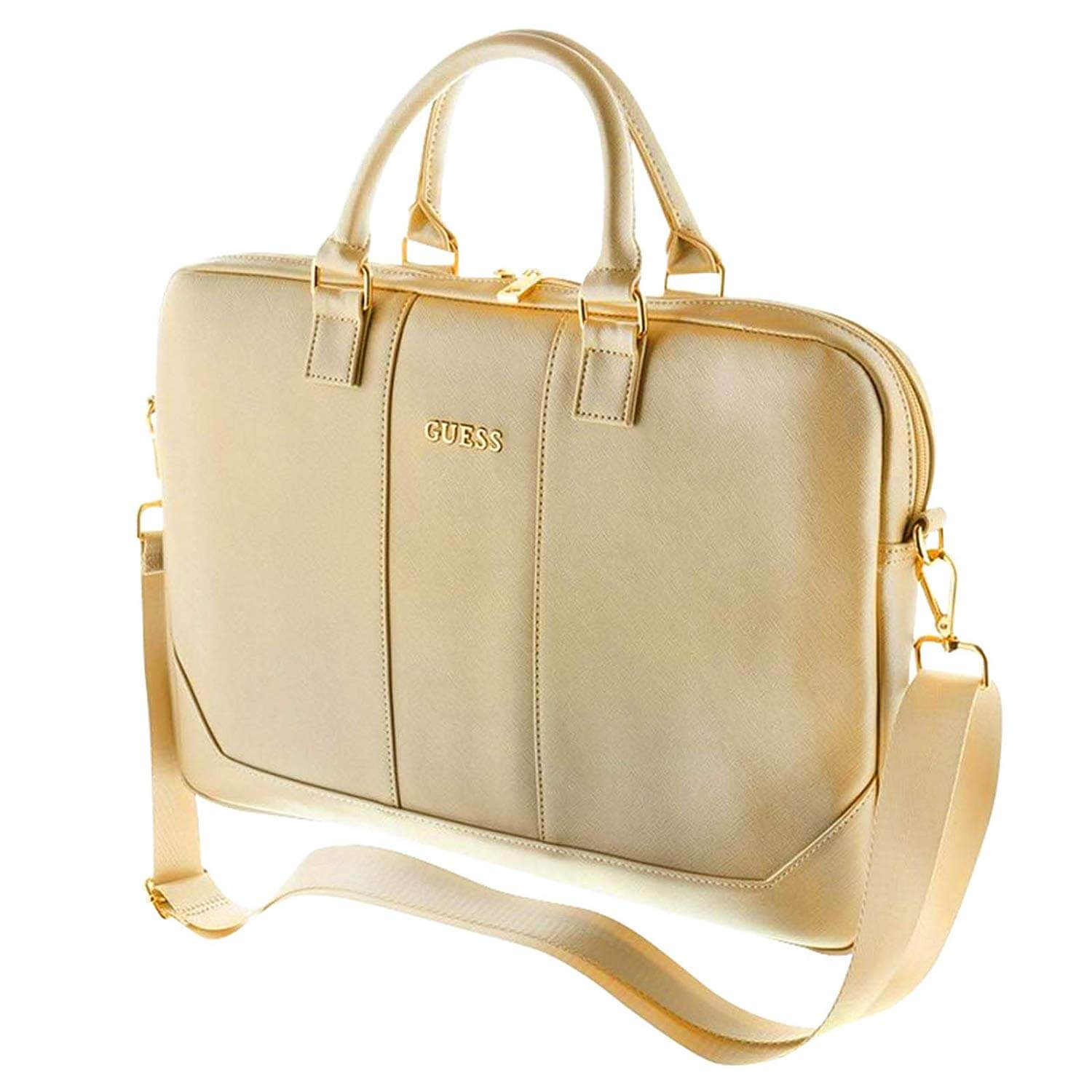 Guess Saffiano Bag for laptops up to 15 inches (gold)