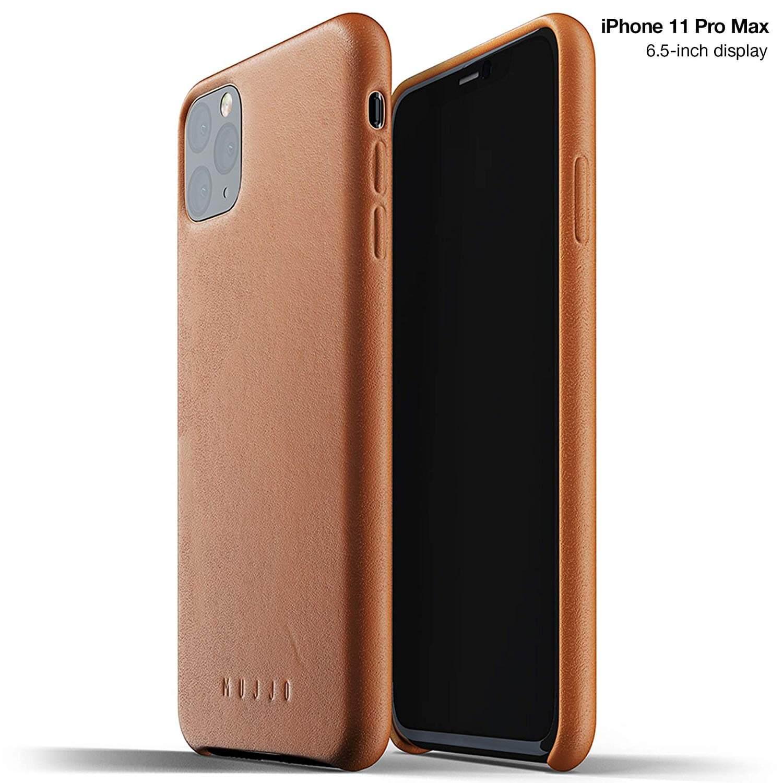 Mujjo Full Leather Case - кожен (естествена кожа) кейс за iPhone 11 Pro Max (кафяв)