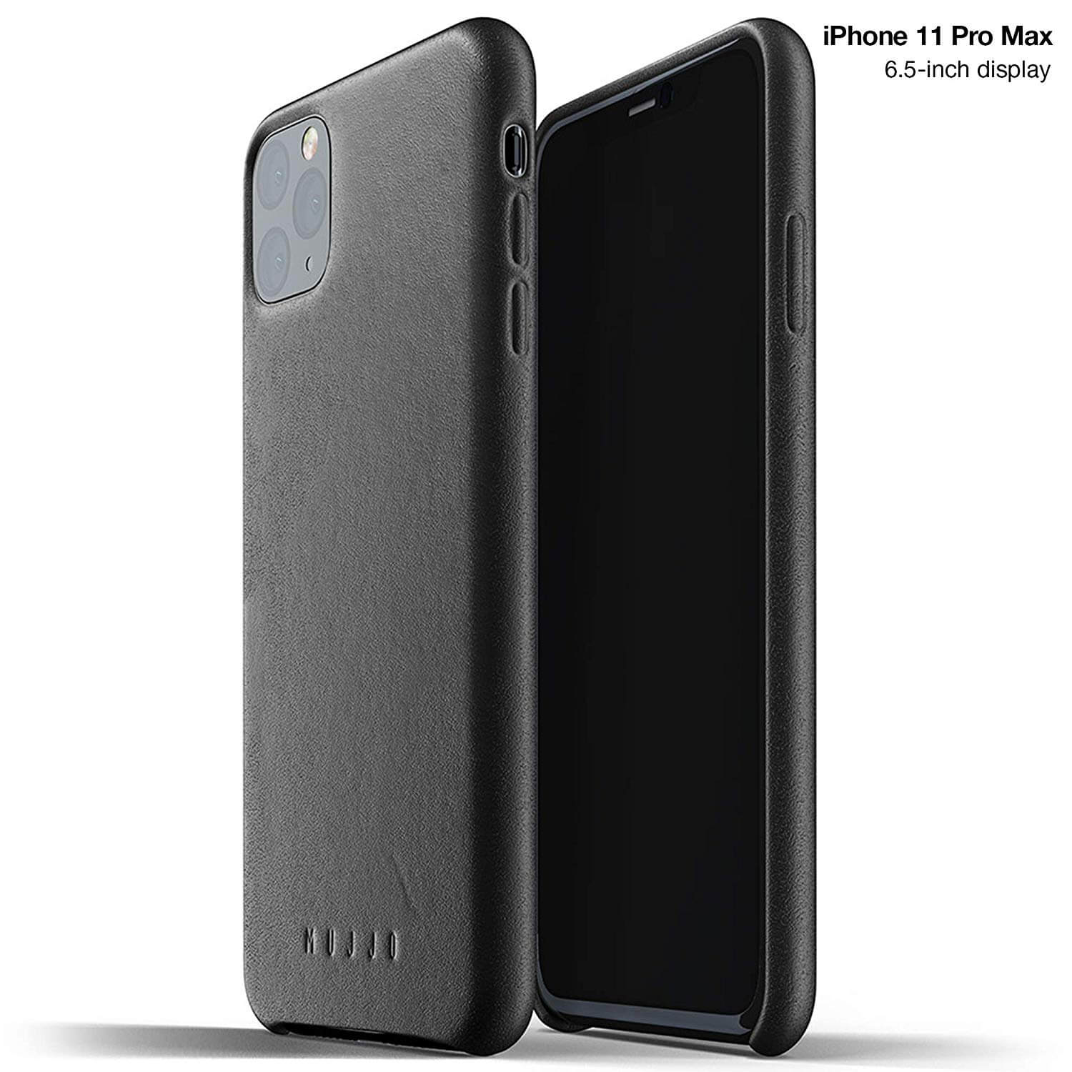 Mujjo Full Leather Case for iPhone 11 Pro Max (black)