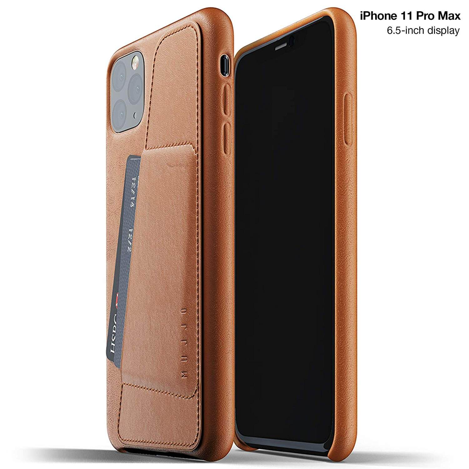 Mujjo Leather Wallet Case for iPhone 11 Pro Max (tan)