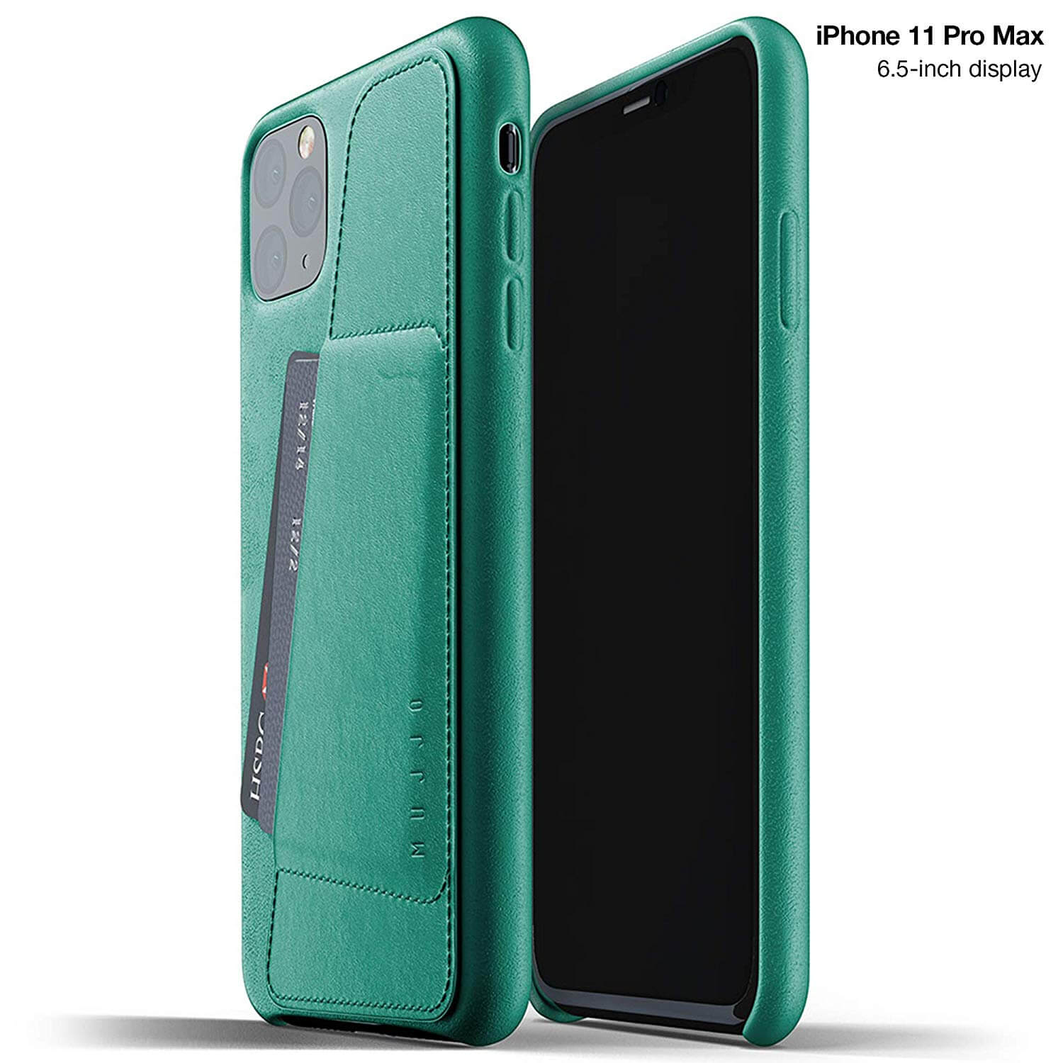Mujjo Leather Wallet Case for iPhone 11 Pro Max (alpine green)