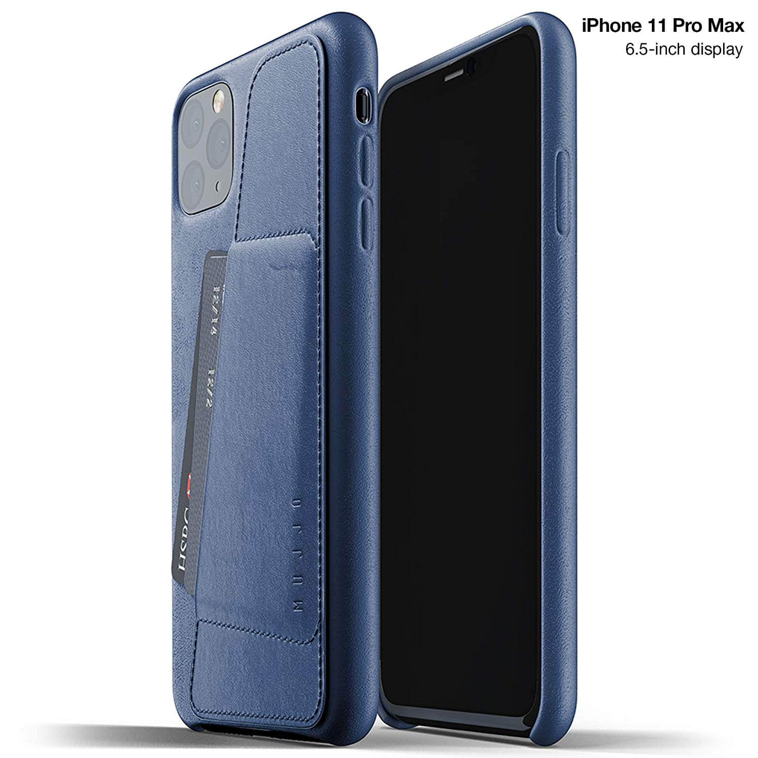 Mujjo Leather Wallet Case for iPhone 11 Pro Max (monaco blue)