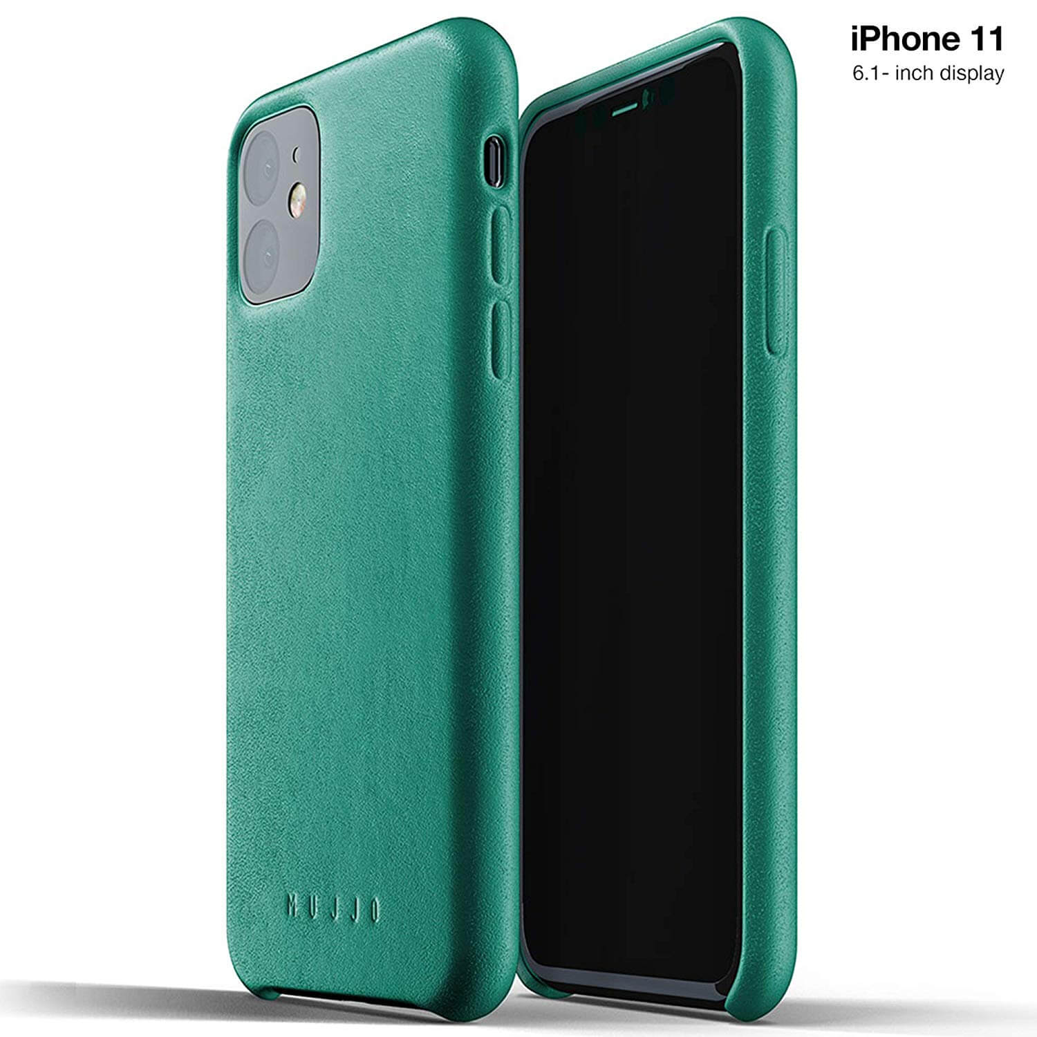 Mujjo Full Leather Case for iPhone 11 (alpine green)