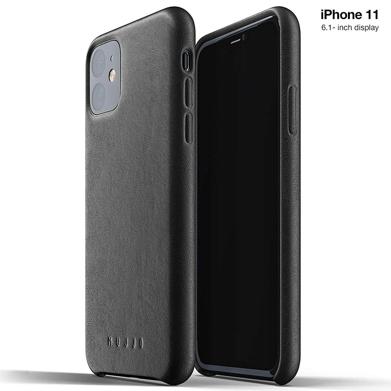 Mujjo Full Leather Case for iPhone 11 (black)