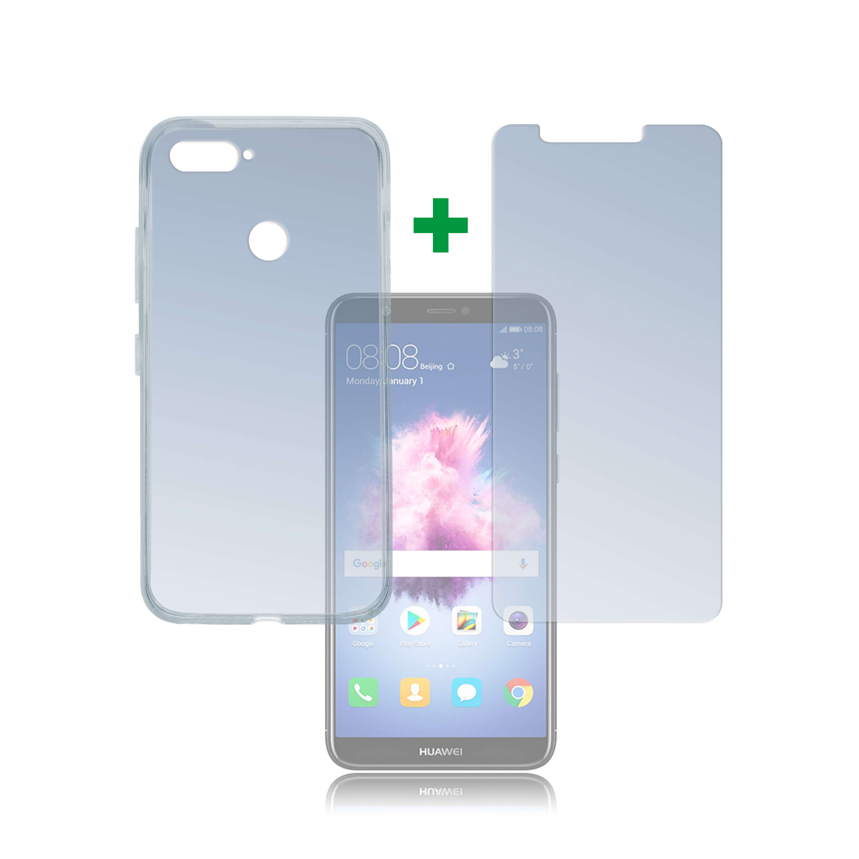 4smarts 360° Protection Set for Huawei P Smart (transparent)