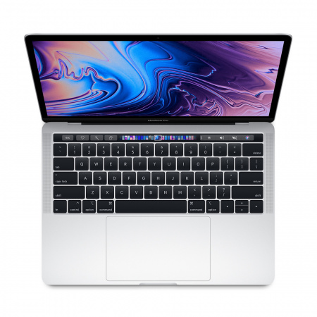 Apple MacBook Pro 13 Touch Bar, Touch ID, Quad-Core i5 1.4GHz, 8GB, 128GB SSD, Intel Iris Plus Graphics 645 (сребрист) (модел 2019)