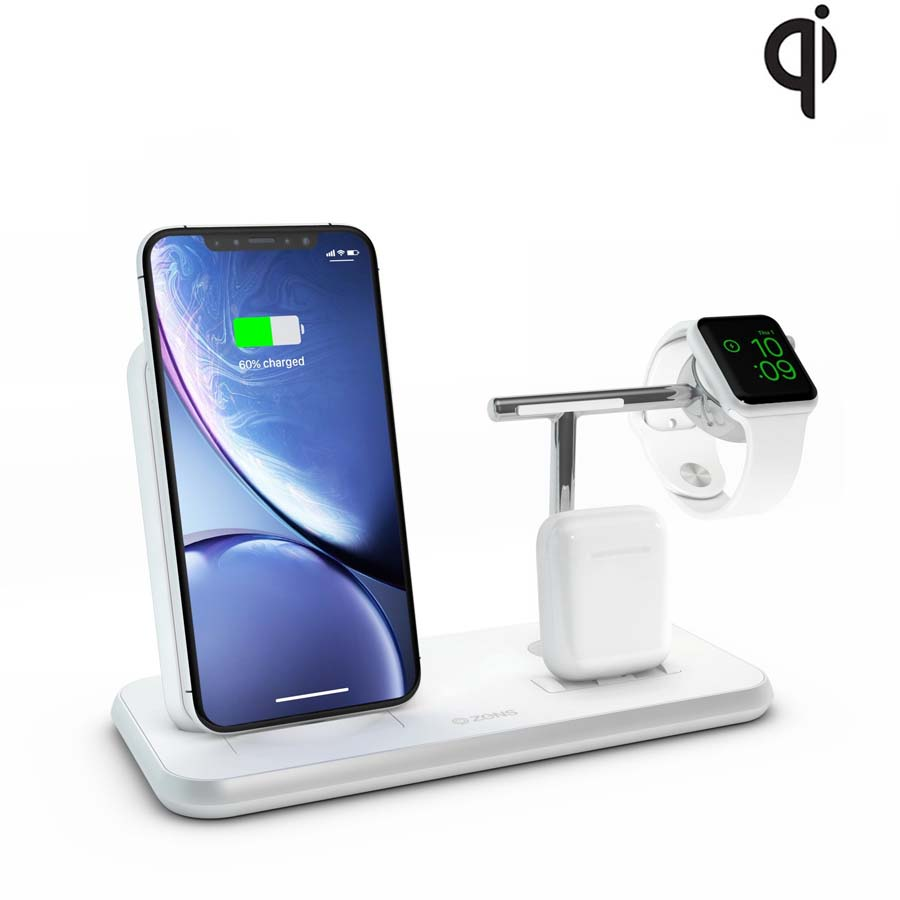 Zens Aluminium Stand + Apple Watch + Dock ZEDC07W00 (white)