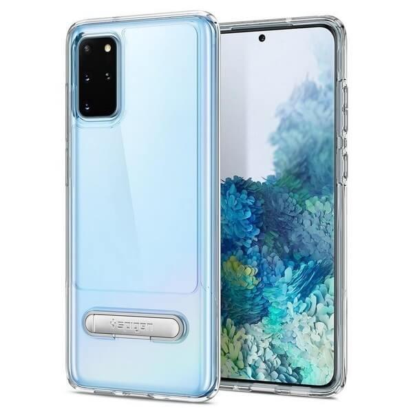 Spigen Slim Armor Essential S Case - хибриден кейс с висока степен на защита за Samsung Galaxy S20 Plus (прозрачен)