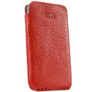 SENA Ultraslim Pouch - кожен калъф за iPhone 4/4S (естествена кожа, ръчна изработка) - червен