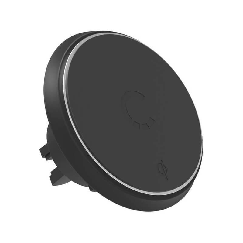 Cygnett MagMount Qi Wireless Car Charger - магнитна поставка за радиатора на кола с безжично зареждане за Qi съвместими смартфони