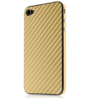 Belkin FINISH 026 - скин за предната и задната част на iPhone 4/4S (златист)