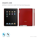 Macally Case Snap-On за iPad 2 (червен)