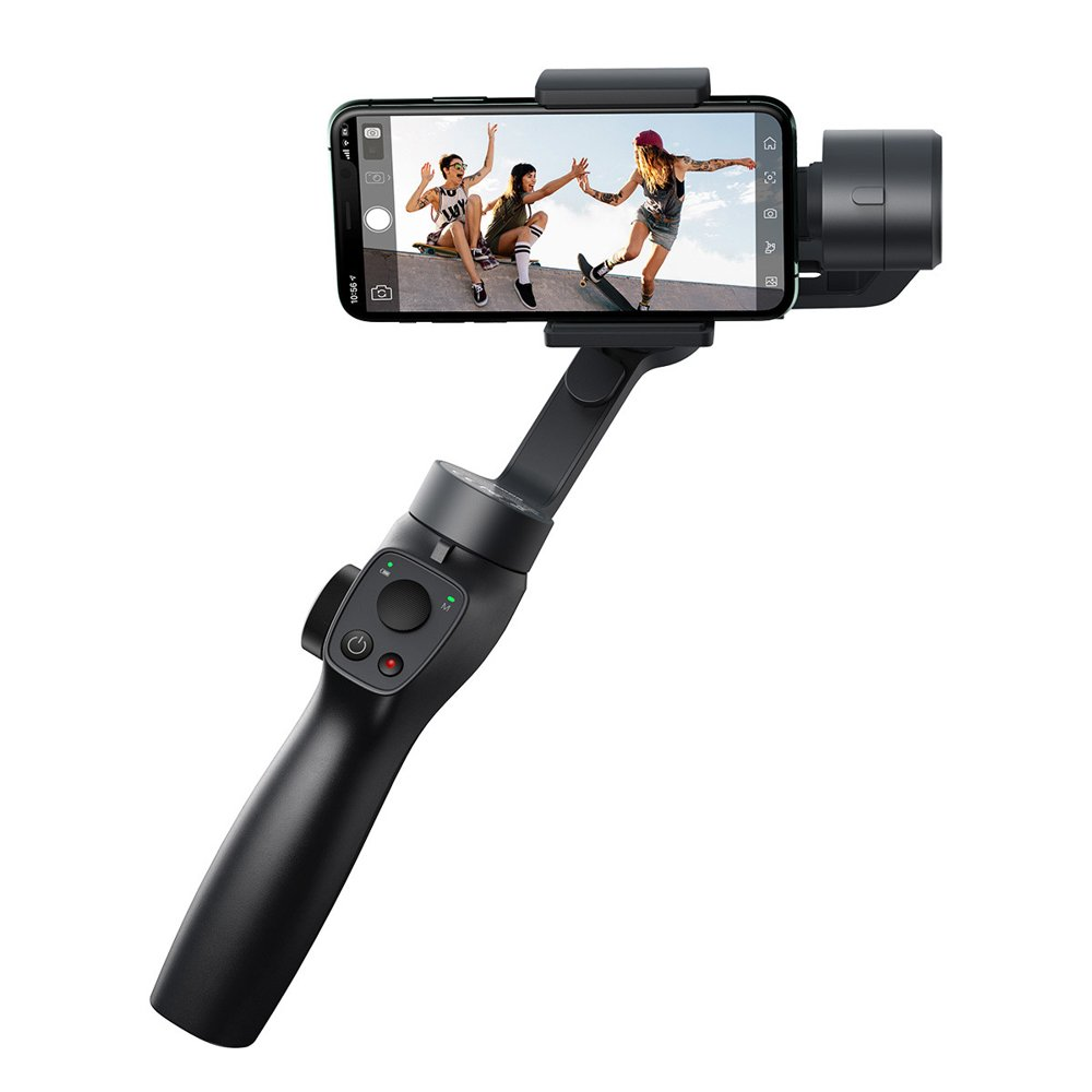 Baseus 3-Axis Gimbal Stabilizer for photos and video recording for iOS and Android  - уникален захващащ стабилизатор за смартфони