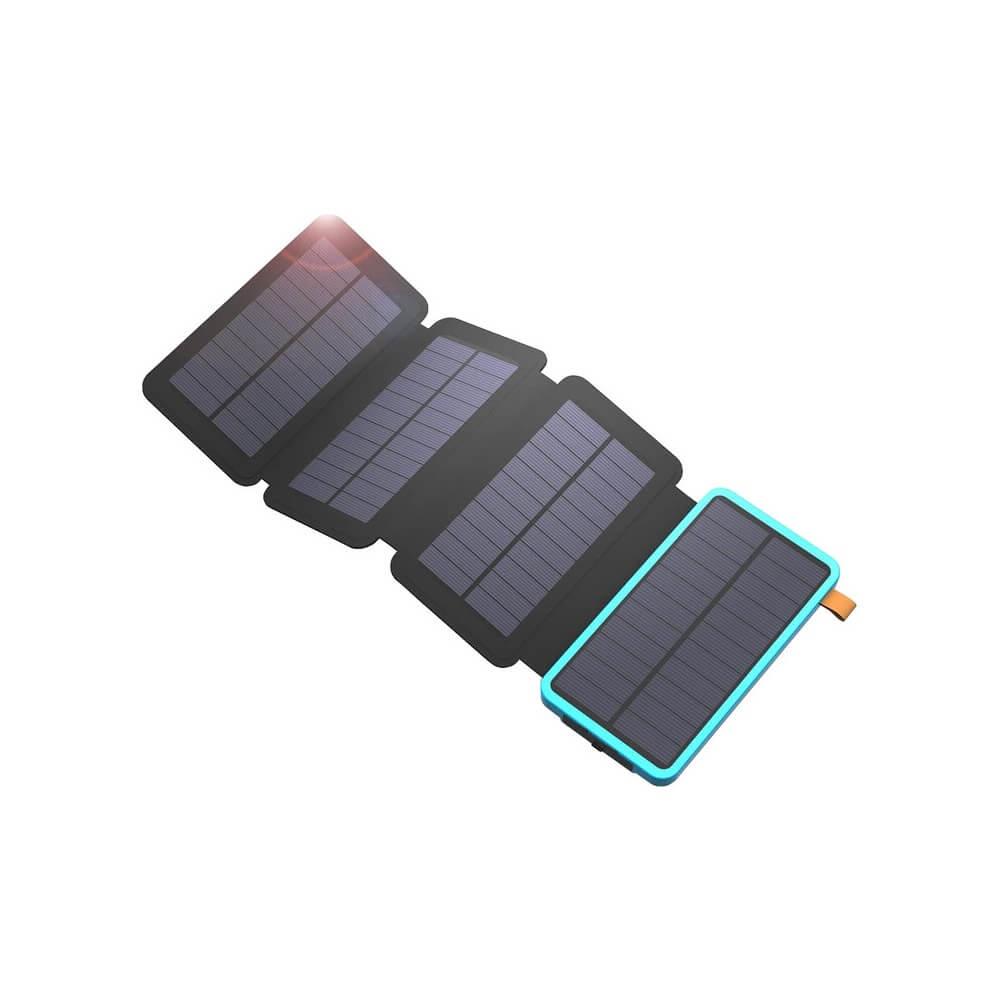 Сгъваем соларен панел с вградена батерия - Allpowers Solar Charger 7.5W + 20000mAh PowerBank (черен-син)
