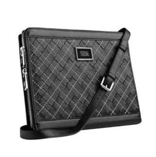 Sena Borsetta - кожена чанта, калъф, папка и поставка за iPad 4, iPad 3, iPad 2 (естествена кожа, ръчна изработка)