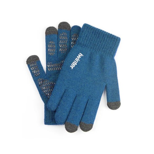 iWinter Gloves Touch Unisex Size S/M - зимни ръкавици за тъч екрани S/M размер (син)