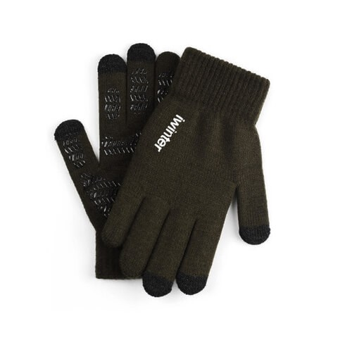 iWinter Gloves Touch Unisex Size S/M - зимни ръкавици за тъч екрани S/M размер (маслинен)