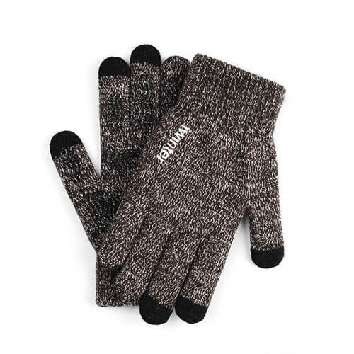 iWinter Gloves Touch Unisex Size S/M - зимни ръкавици за тъч екрани S/M размер (кафяв)