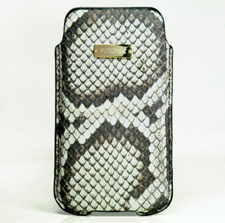 FitCase Pouch Snake Skin - genuine snake leather case for iPhone 4/4S