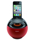 Sony RDP-V20IP 360° Sound - спийкър за iPod и iPhone (червен)
