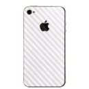 FitCase Sticker Kit Carbon - карбонов скин за iPhone 4/4S (бял)