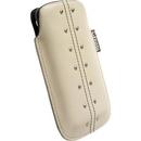 Krusell KALIX XXL mobile pouch - кожен калъф за Samsung Galaxy S2 i9100, HTC Desire 500 и мобилни телефони (бежав)