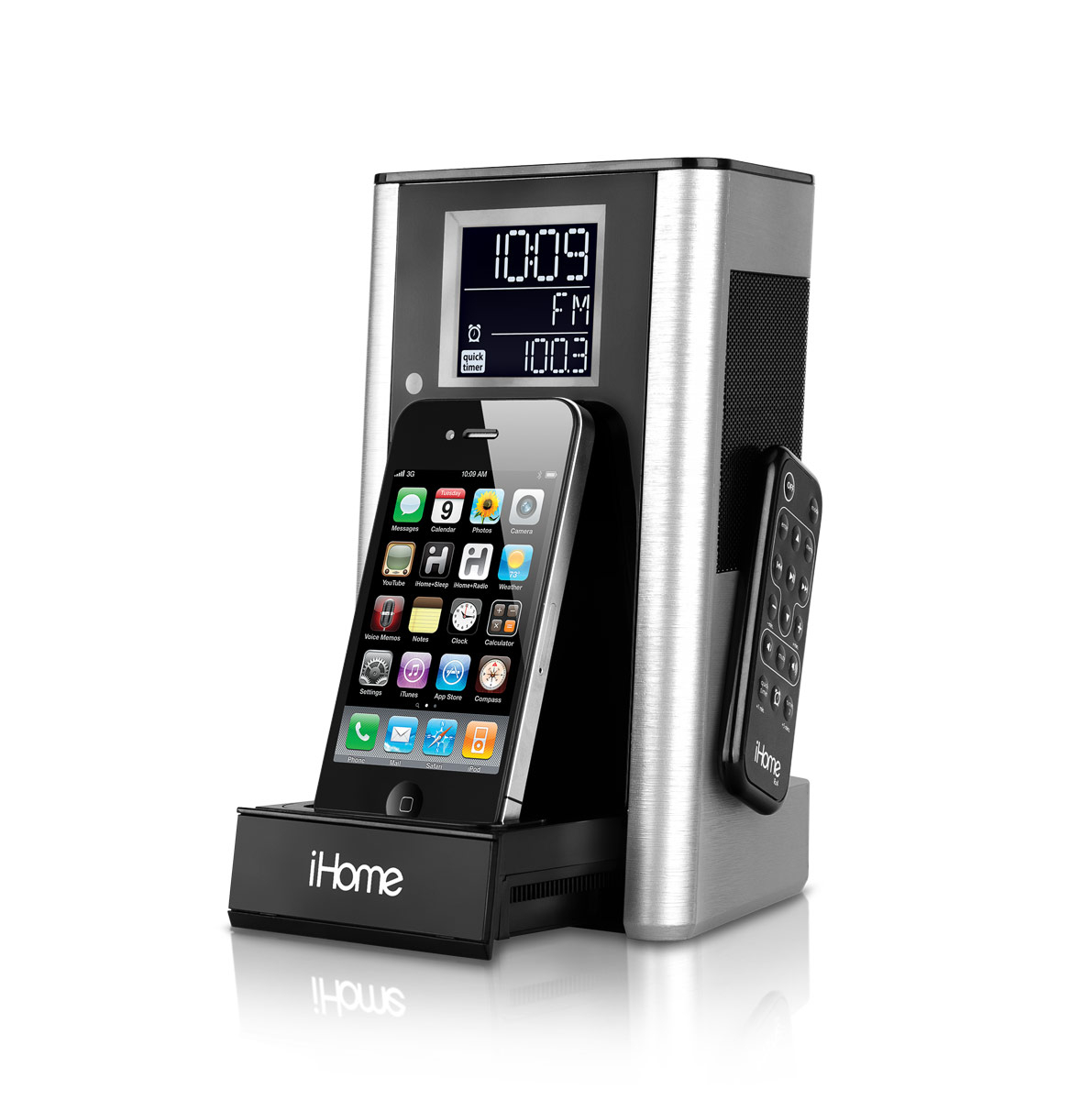 ihome ip39 kitchen timer and alarm clock radio speaker system for iphone ipod. Black Bedroom Furniture Sets. Home Design Ideas