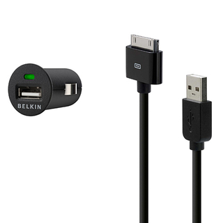 Belkin Car USB Kit charger with USB cable for iPhone and iPod