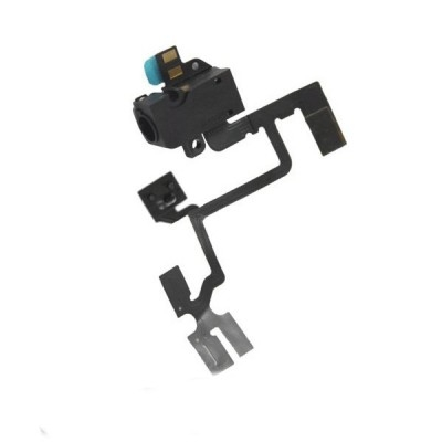 OEM Audio Jack Flex Cable - оригинален модул за звука за iPhone 4 (черен)