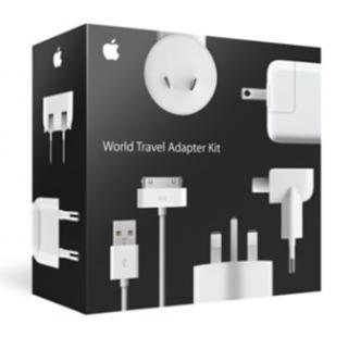 Apple World Travel Adapter Kit - комплект захранване и кабели за iPhone, iPad и iPod