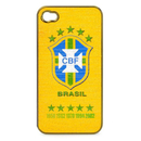 Brazilian Football Confederation - поликарбонатов кейс за iPhone 4S, iPhone 4