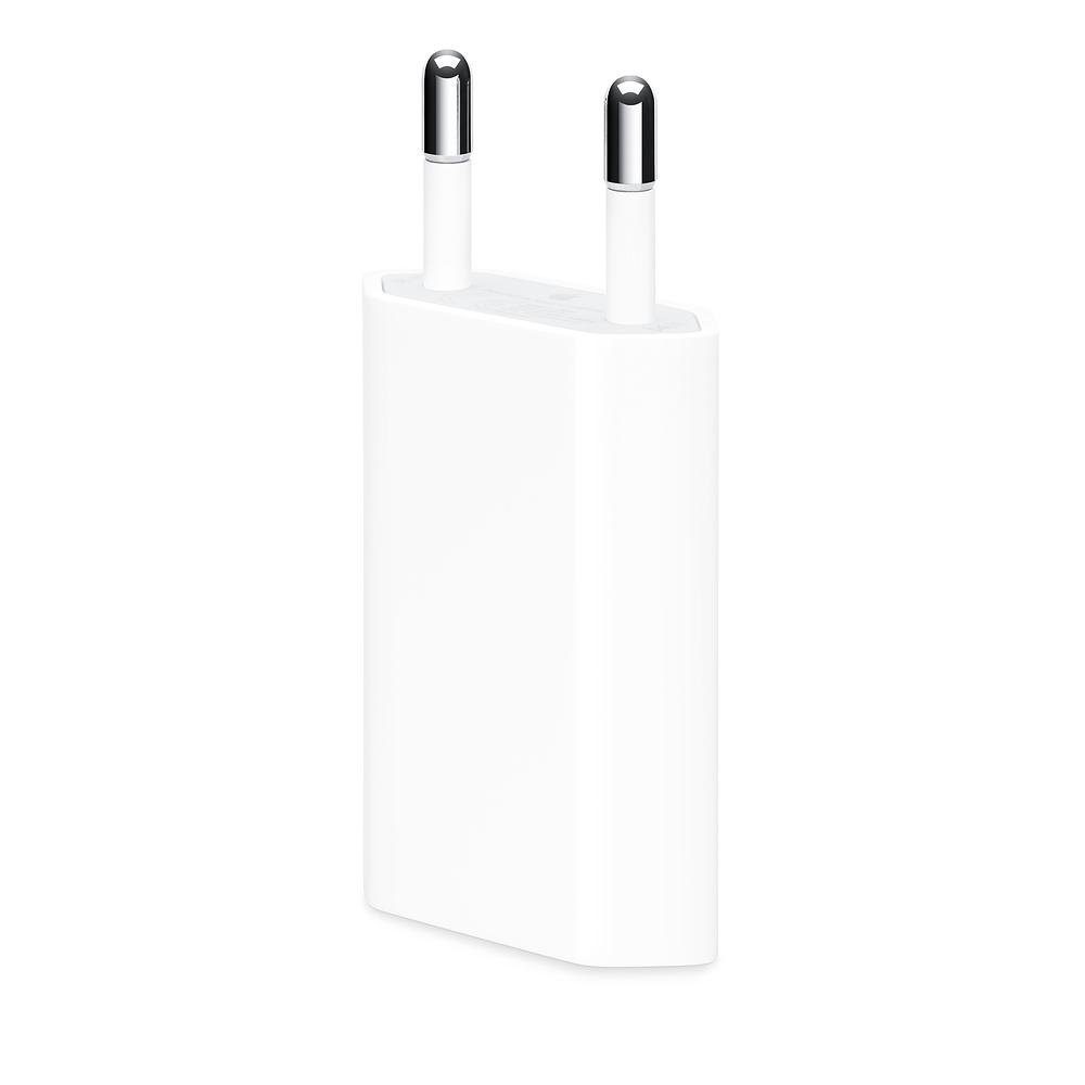Apple USB Power Adapter 5W - оригиналнo захранване с USB изход за ел. мрежа за iPhone и iPod (retail опаковка)