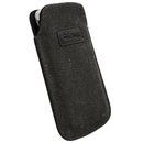 Krusell Uppsala Mobile Pouch 3XL - кожен калъф за Samsung Galaxy S4, HTC ONE, Sony Xperia V, LG и др. (черен)