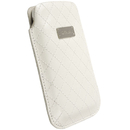 Krusell Avenyn Mobile Pouch 3XL - кожен калъф за Samsung Galaxy S3, S3 Neo, S4, HTC One, Moto G, Xperia Z1, Z1 Compact и др. (бял)