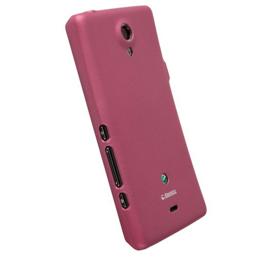 Krusell ColorCover - поликарбонатов кейс за Sony Xperia T (розов)