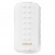 HUGO BOSS Capetown - луксозен кожен калъф за iPhone 5, iPhone 5S, iPhone SE (бял) 2