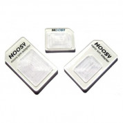 Noosy Nano/Micro SIM Adapter Set for iPhone 4/4S, iPhone 5, iPad and mobile devices (white)